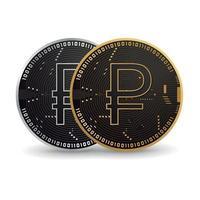Russian Ruble Digital Coin vector