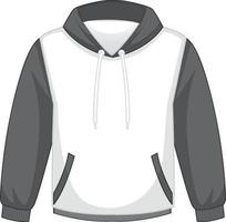 Front of basic white and orange hoodie isolated vector