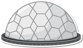 Sticker template with unidentified flying object UFO isolated vector