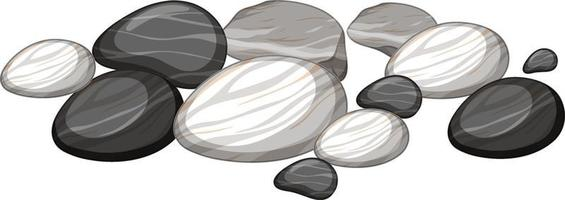 Group of stones on white background vector