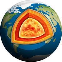 Isolated earth plates tectonic vector