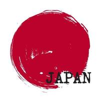 Grunge circle style of Japan flag . Vector .