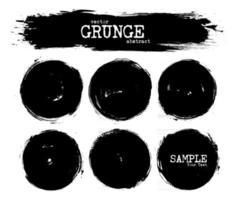 Set of abstract grunge circle shapes . Vector .