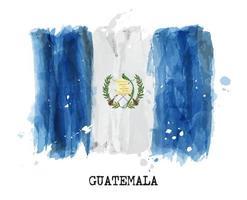 pintura de acuarela bandera de guatemala. vector. vector