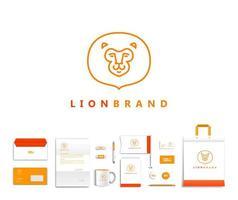 White corporate id template design vector