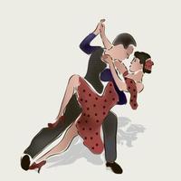 pareja de baile ilustración vectorial vector