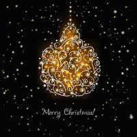 Christmas decorative background design vector