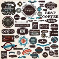 Coffee collection labels design vector