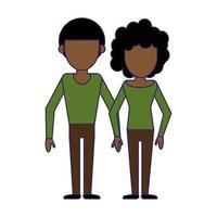 Couple boyfriend and girlfriend cartoon vector