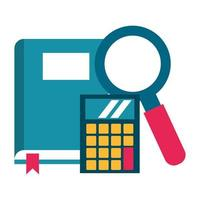 book and calculator icon vector illustration
