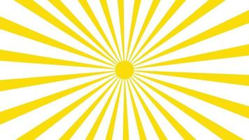 animation d'icône de soleil avec un fond blanc. conception d'icône. animation vidéo. animation de dessin animé isolé soleil brillant video