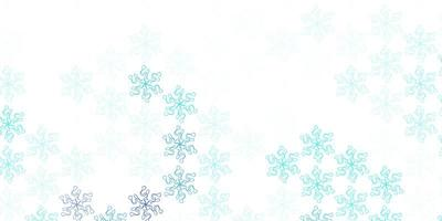 Light blue vector natural layout with flowers
