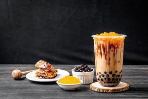 Taiwan milk tea with bubble photo