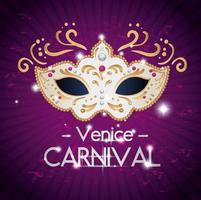 poster of venice carnival with mask vector