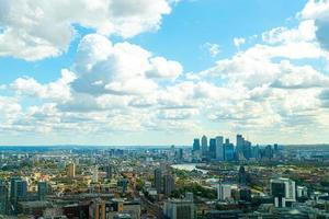 Aerial view London City with River Thames photo