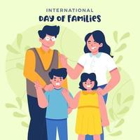 International Day of Families vector