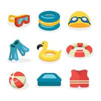 Swimming Flat Icon in Summer vector