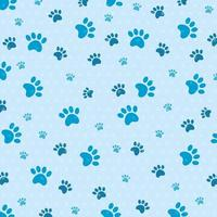 background of dog paw prints vector