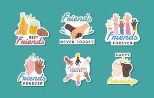 Friendship Sticker Collection vector