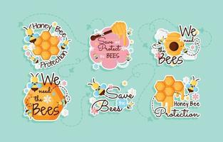Honey Bee Protection Sticker vector
