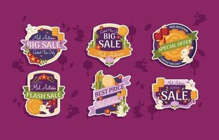 Mid Autumn Sale Badge vector