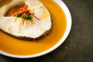 Steamed Cod Fish with Soy Sauce photo