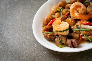 Stir-Fried Sea Cucumber with Shrimps photo