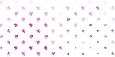 Light purple vector backdrop with virus symbols