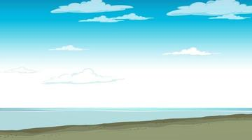 Blank sky at daytime scene with blank flood landscape vector