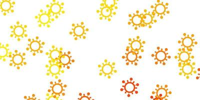Light yellow vector template with flu signs