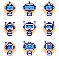 Chatbot Icon Collections vector