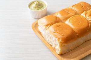 Bread with Thai Pandan Custard photo