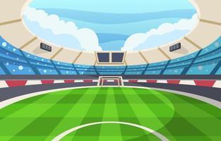 estadio de futbol vector