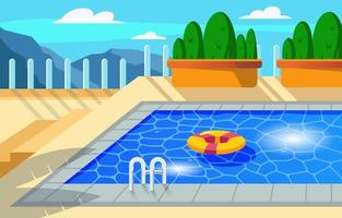 Swimming Pool Background vector
