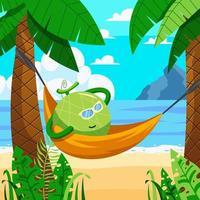 Melon Relax in Hammock vector