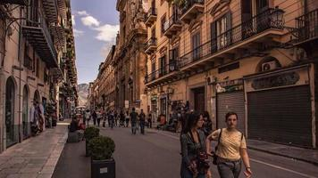 Time Lapse of via Maqueda in Palermo video