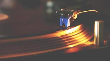 toca-discos agulha DJ close-up video