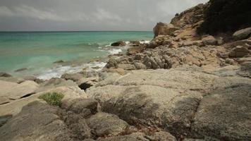 Cliff Overlooking the Sea in Sardinia video