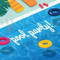 Swimming Pool Background in Diagonal View vector