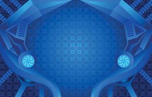 Geometric Robotic Background vector