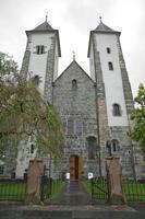 St Marys Church in Sandviken, Bergen, Norway photo