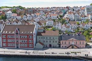 Aerial view of Stavanger in Norway photo