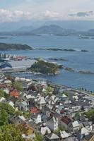 View of Alesund port town, Norway photo