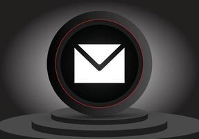icono 3d de correo electrónico de redes sociales vector