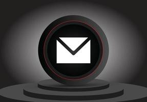 Realistic 3d email symbol isolated 3d icon vector
