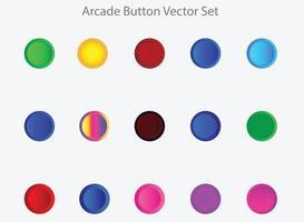 Bright Arcade Buttons Vector Set
