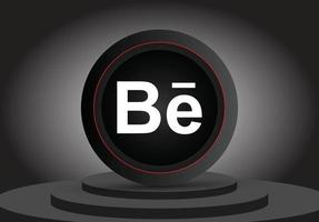 Social media 3d behance icon vector