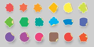 Colorful color Sticker label collection. vector