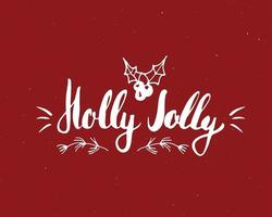 Merry Christmas Calligraphic Lettering. Typographic Greetings Design. Calligraphy Lettering for Holiday Greeting. Hand Drawn Lettering Text Vector illustration