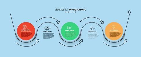 Design elements of business infographics Modern infochart, marketing chart and graphs, bar diagrams vector
